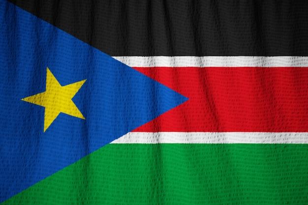 クローズアップスーダン南フラグ、スーダン南フラグクローズアップ風