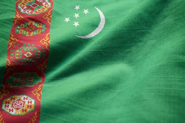 風を吹くトルクメニスタンの旗、トルクメニスタンの旗