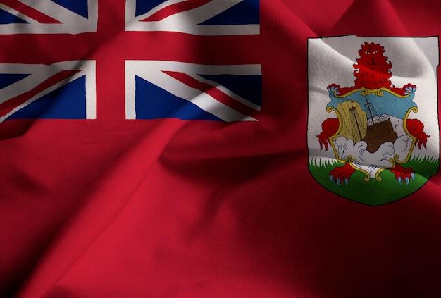 バミューダ旗、バミューダ旗が風に吹く