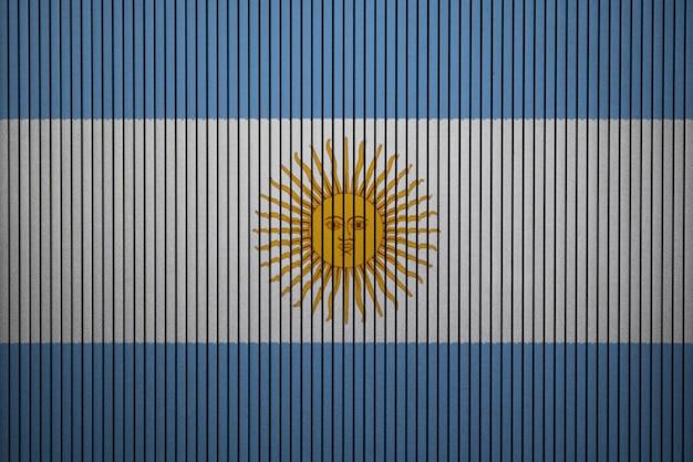 コンクリートの壁にアルゼンチンの国旗を塗った