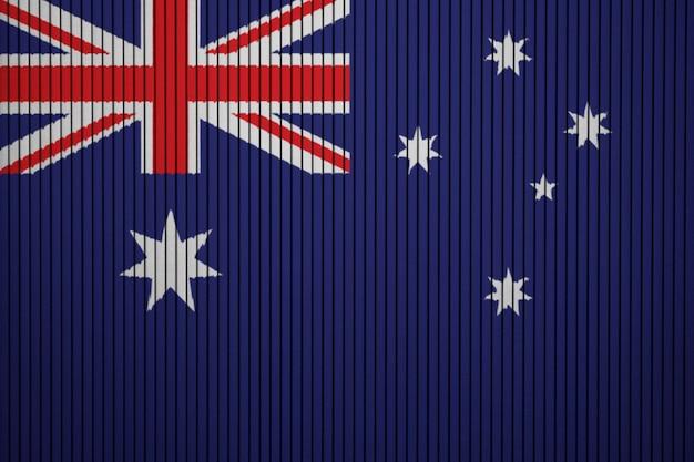Окрашенный национальный флаг австралии на бетонную стену