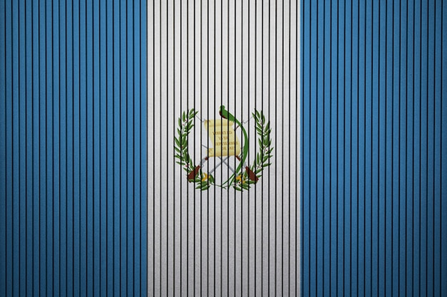 グアテマラのコンクリート壁に塗った国旗