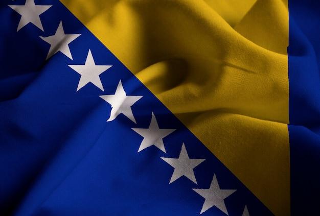 フリルのボスニアとヘルツェゴビナの旗の拡大