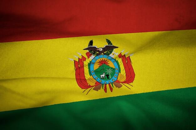 風に吹かれてボリビアの波立たせられた旗