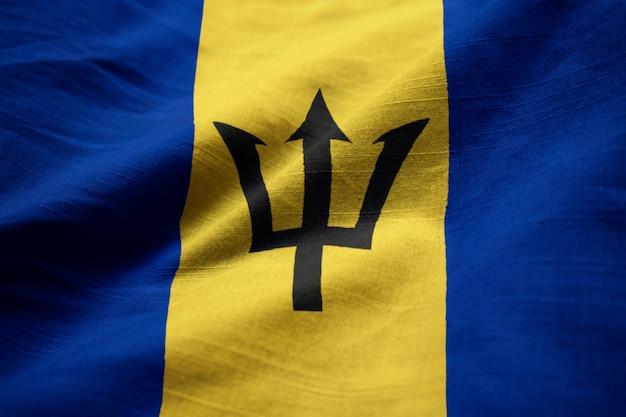 バルバドスの国旗が風に吹かれて