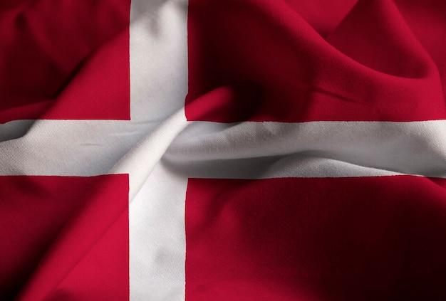 デンマーク旗、デンマーク旗が風に吹く