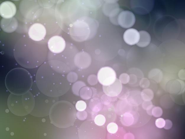 抽象的な光の背景、カラフルな背景にぼやけた光で作られた美しいボケ
