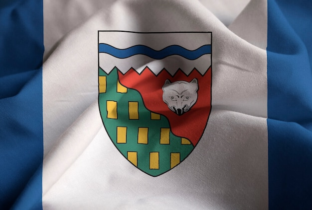 ラフティングノースウエスト準州フラグ、ノースウェスト準州の旗フライングブローイング風