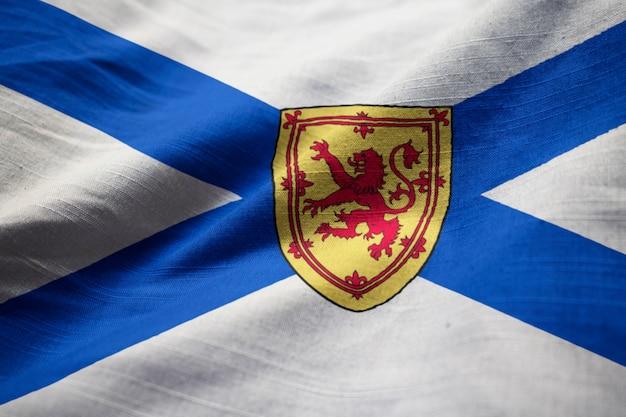 ノーブル・スコシア・フラグ、ノバスコシア州の旗が風に吹く