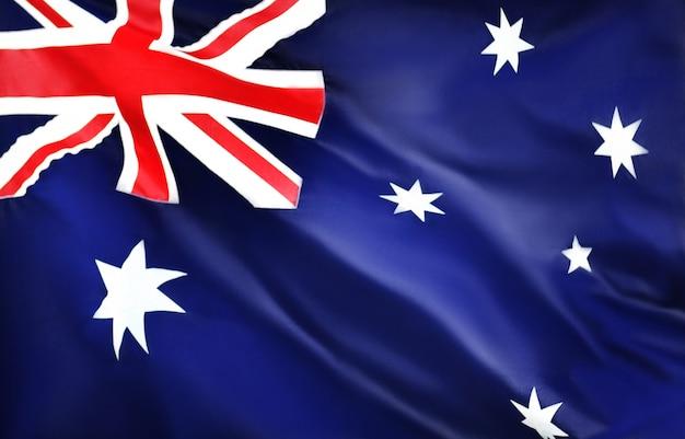 オーストラリアの旗を振る