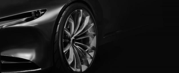 Деталь на одной из светодиодных фар современного автомобиля