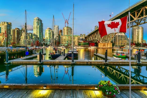 フェリーボートはバンクーバー、カナダに一緒にドッキング