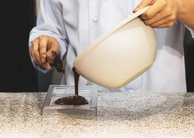 チョコレートファッジのフロスティング、チョコレートファッジの作成
