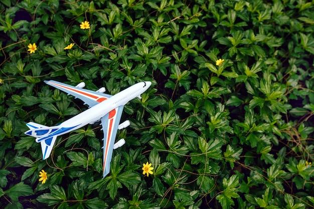Плоская планировка концепции путешествия с самолетом
