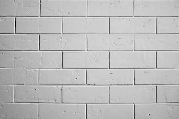 レンガの白い壁