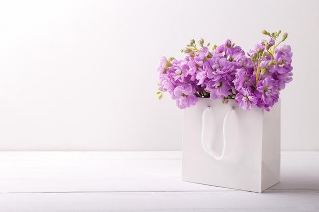 Сиреневые цветы матиолы