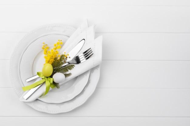春のテーブルセッティング