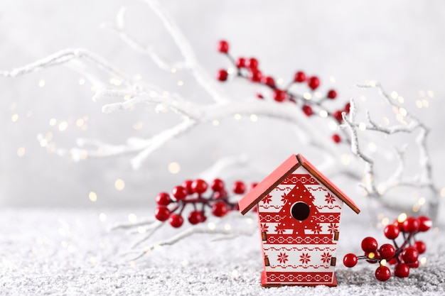 クリスマスや新年の背景
