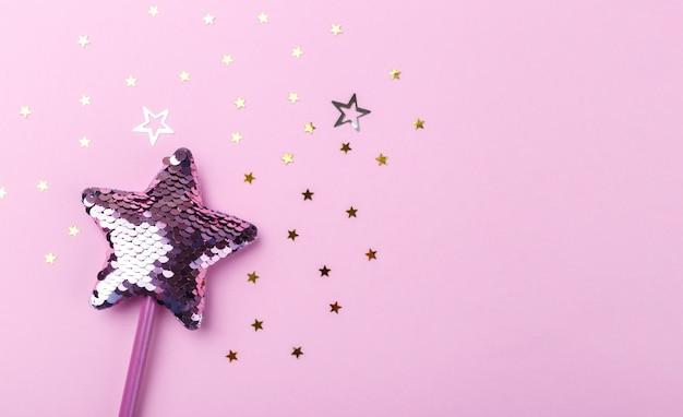 Сверкающая волшебная палочка в форме звезды