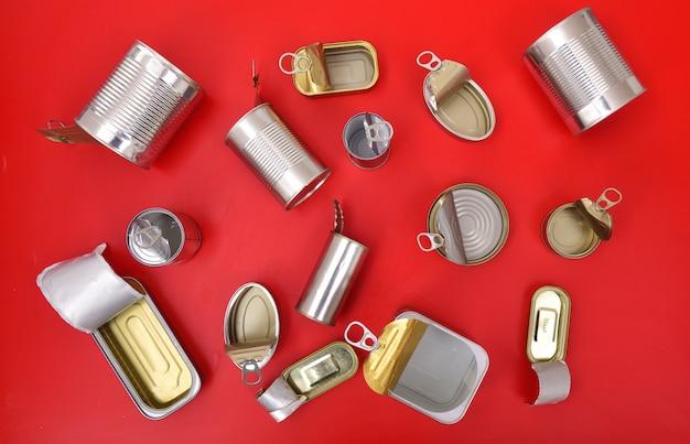 ブリキ缶の上面図