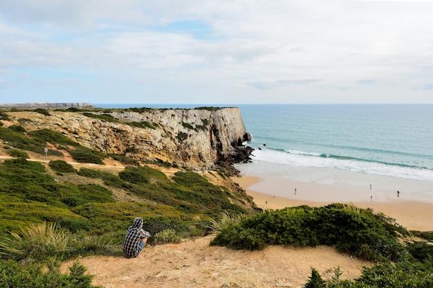 Пляж белиш, алгарве, португалия
