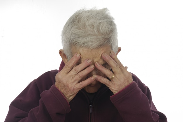 うつ病の年配の女性
