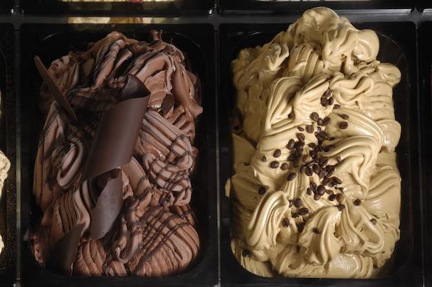 Мороженое кофе и шоколад