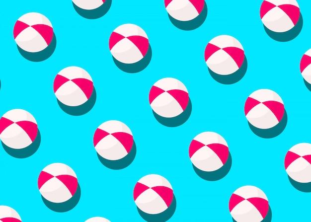 青の縞模様のボール