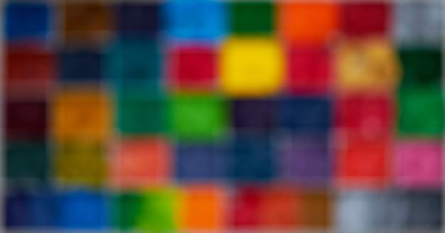 Размытие квадратного и пиксельного красочного дисплея в абстрактном виде