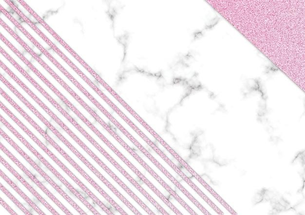 ピンクの光沢のある大理石の黒いグラウンド、より鮮やかな光沢のあるテクスチャ、テンプレートのプレゼンテーション