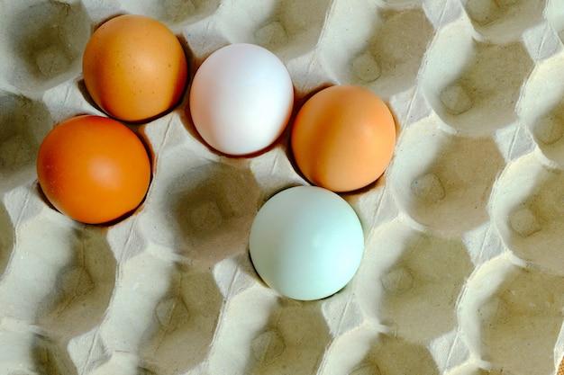 鶏の卵と鴨の卵のミックス