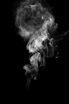 抽象的な効果のバック&白い煙