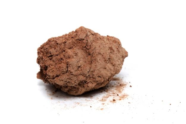 不毛の粘土の赤い塊