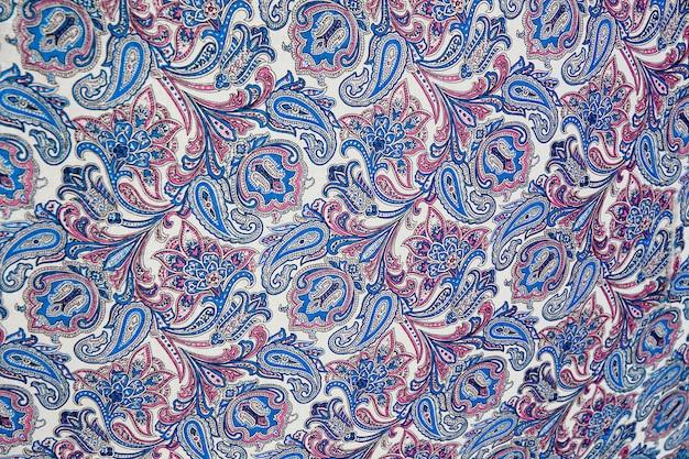Взгляд старого античного дизайна текстуры ткани.
