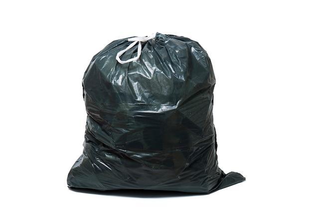Зеленый мешок для мусора