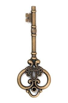 Старинный фантазийный золотой ключик
