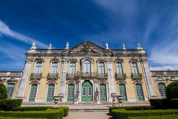 ポルトガル、シントラにあるケルズの美しい国立宮殿の眺め。