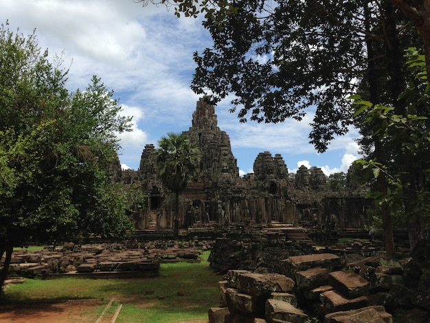 Анкор-дворцы, сием-рип, камбода. красивый рай.