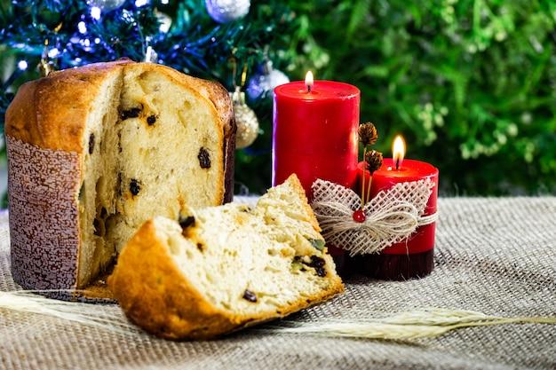 Вкусный рождественский панеттон.