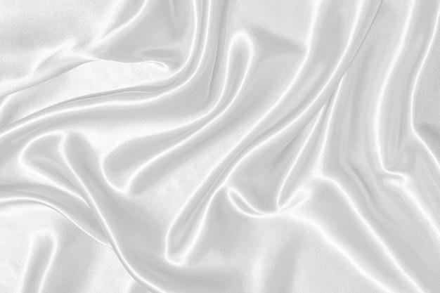 Серебряная волнистая шелковая текстура