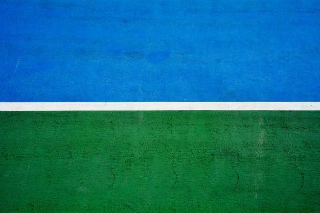 青と緑のテニスコート