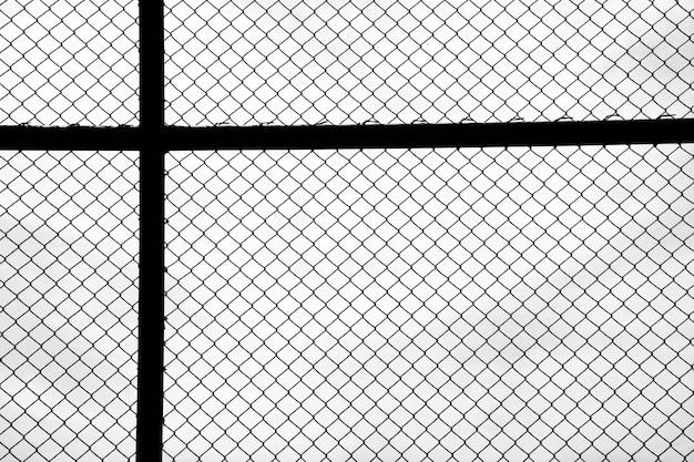 白い背景の上のケージメタルネット