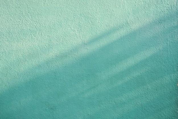 Тень ветвей и листьев на бледно-зеленой цементной стене