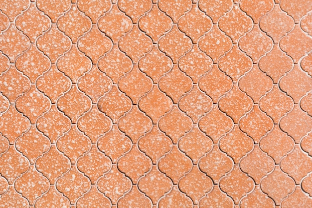 オレンジ色のセラミックモザイク模様
