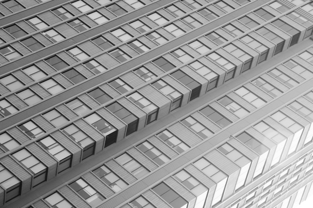 窓建築モダンスタイル - モノクロの建築
