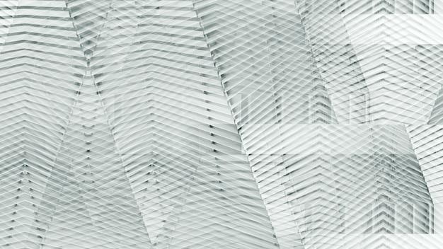 鋼鉄壁パターンの抽象的な現代建築。