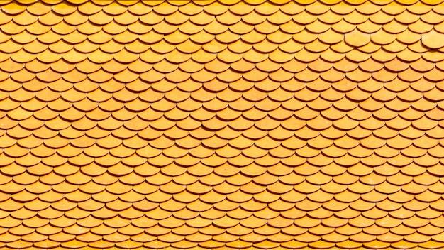 古典的なオレンジ色のセラミック屋根の背景