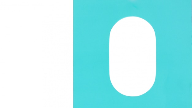 青い紙のテクスチャと白い楕円形の空白の背景