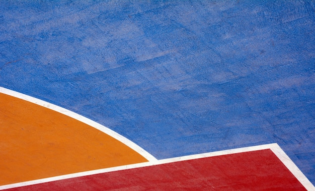 Баскетбольная площадка крупным планом