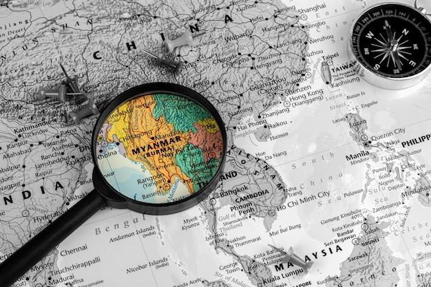 Увеличитель селективный на карте мьянмы
